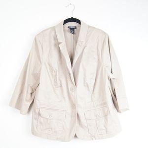 Lane Bryant   Beige Jacket   Size 18